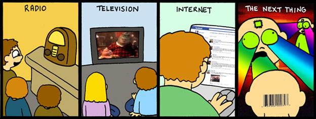 Radio -> Television -> Internet -> ???